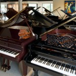 Grand Pianos on display
