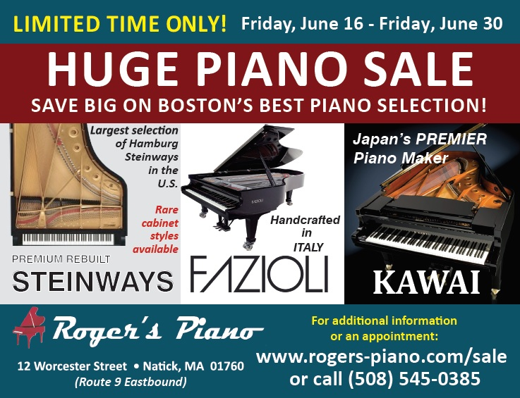 Piano Sale at Roger's Piano