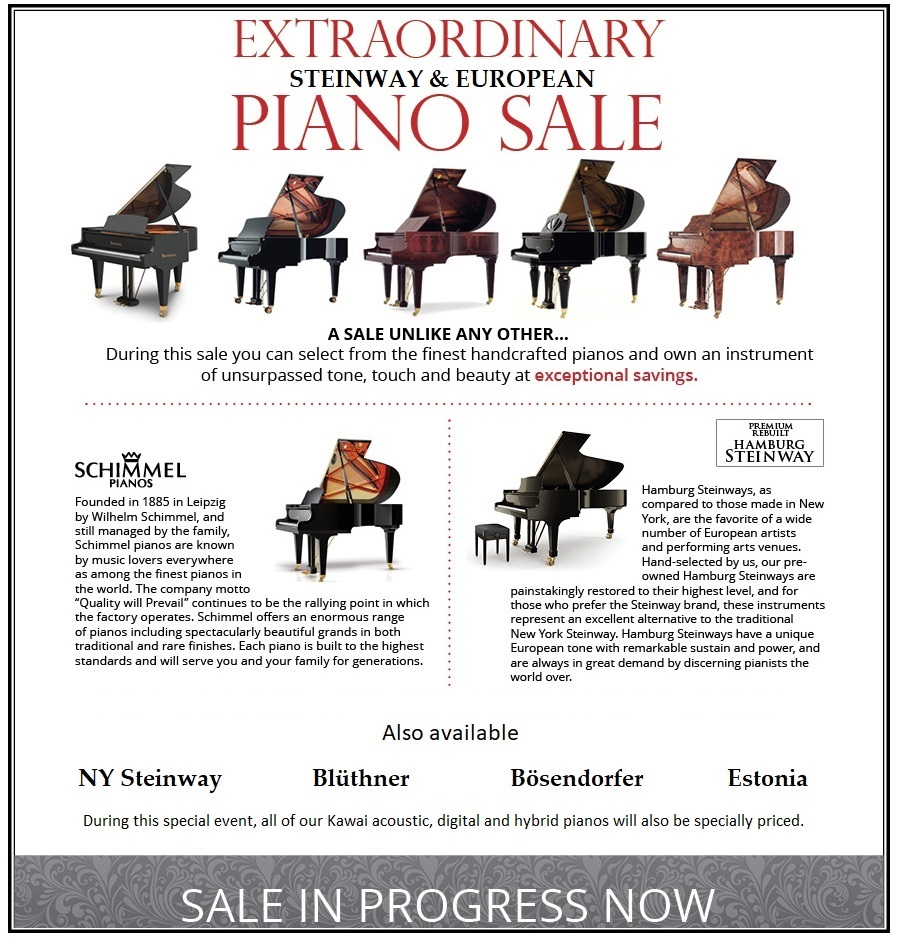 Steinway and European Piano Sale