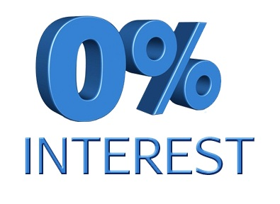 0% Interest 12 Month Same as Cash