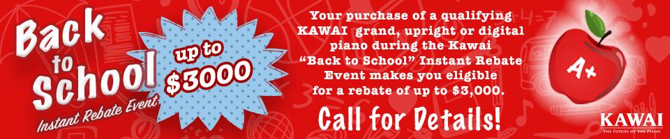 Kawai Back to School Rebate